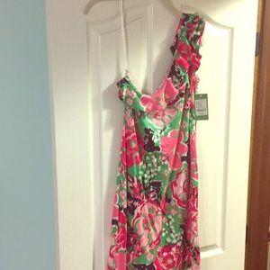 LILY PULITZER - one shoulder printed dress